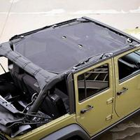 Black Dacron Sun Shade Top Covers Front Or Rear Passengers For Jeep Wrangler JK 4 Door