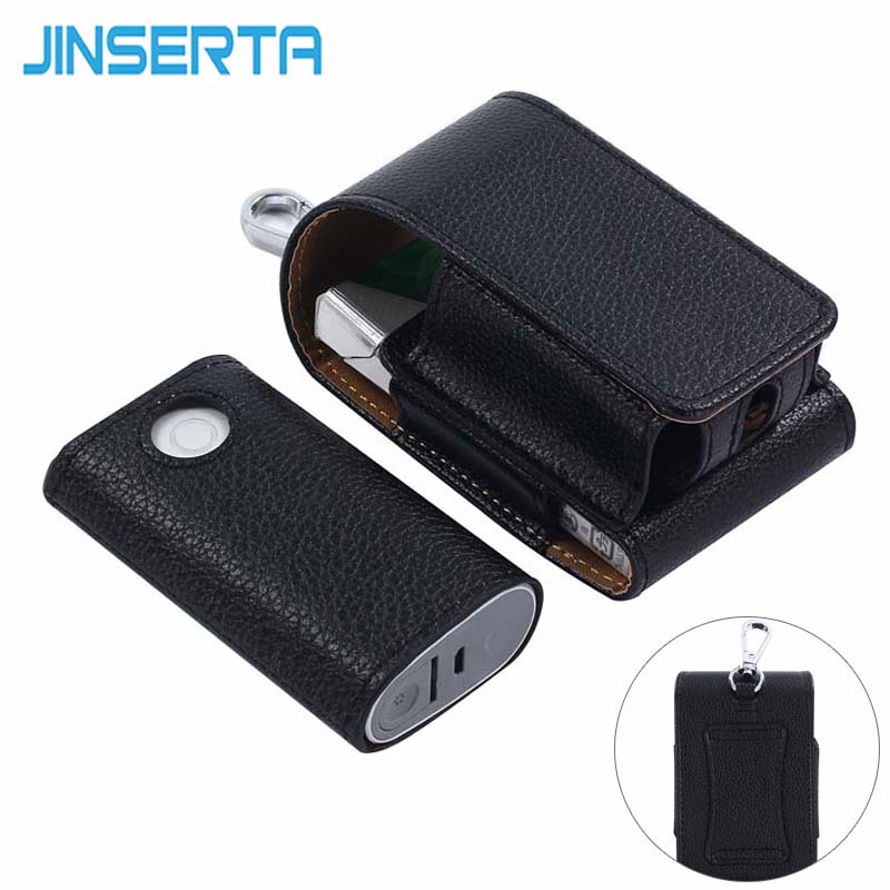 JINSERTA Full Protective Case for glo PU Leather Carrying Case Box Holder Pouch Bag for GLO Electronic Cigarettes