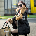 2016 New Luxury Raccoon Fur Collar Hooded Down Jackets Winter Women's Armband Thicken Long Down Coats Parkas Snow Outerwear YR35