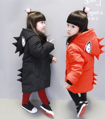 ФОТО Baby girls cotton-padded jacket children cotton long coat