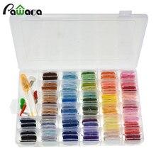 Нить для вышивания с коробкой для хранения 96 цветов нить для рукоделия с наклейками с цифрами и бобинами 38 шт. Набор для вышивания крестиком