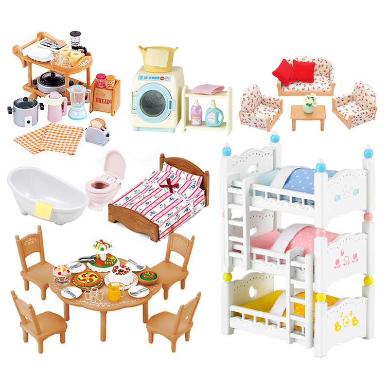 Sylvanian Families Dollhouse Furniture Playset Various Types Doll Girl Kids Toy Gifts New