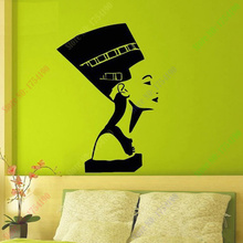 New Ancient Egyptian Symbol Queen Nefertiti Interior Design Wall Decal Vinyl Sticker Bedroom Living Room Girls Wall Home Decor