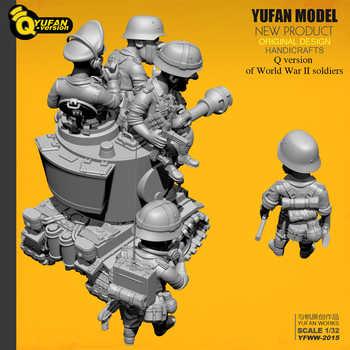 Yufan Model 1/32 Soldier Q version of the soldier 6 plus tank set Yfww-2015