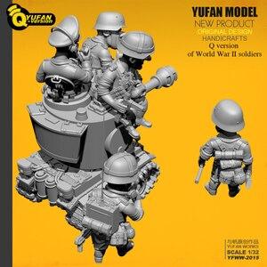 Image 3 - Yufan Modell 1/32 Soldat Q version der soldat 6 plus tank set Yfww 2015