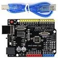 Improved Version 5V / 3.3V Compatible UNO R3 (CH340G) ATMEGA168P Development Board with USB Cable for Arduino UNO R3