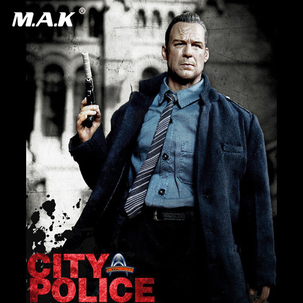 1/6 Full Set Collectible City Police Art Action Figures AF009 Bruce Willis Action Figure Model Toys For Fans Collection Gift for collection full set action figure model fs 73005 1 6 us us delta special forces 1st sfod d figure model toys for fans gift