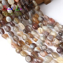 8-10 MM Stripe Irregular Persian Agates Loose Beads For Jewelry Making Natural Stone