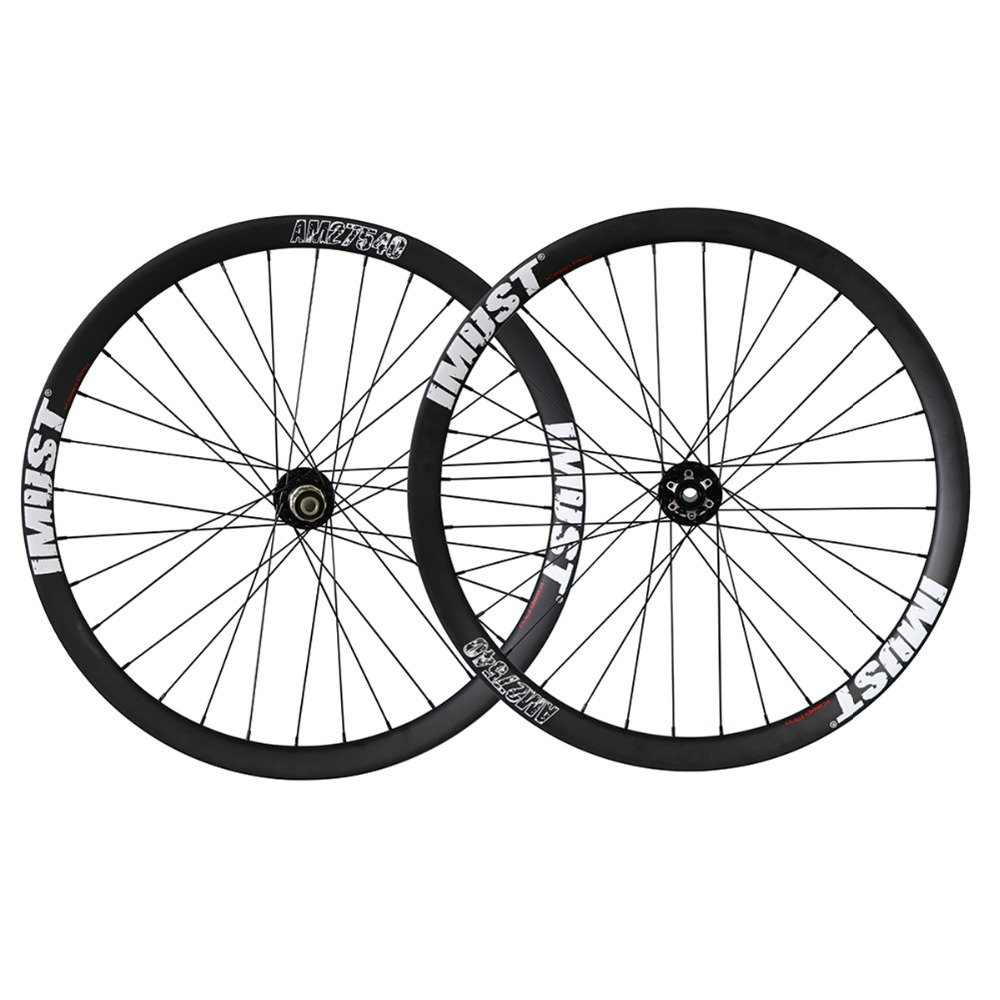 IMUST All mountain carbon wheels 32 holes rims profile Clincher Tubeless Ready hookless MTB wheelset