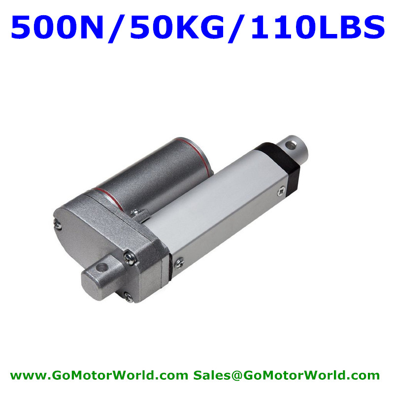 Waterproof 12V 50mm 2inch stroke 500N 50KG load 20mm/s speed heavy duty linear actuator free shippingWaterproof 12V 50mm 2inch stroke 500N 50KG load 20mm/s speed heavy duty linear actuator free shipping
