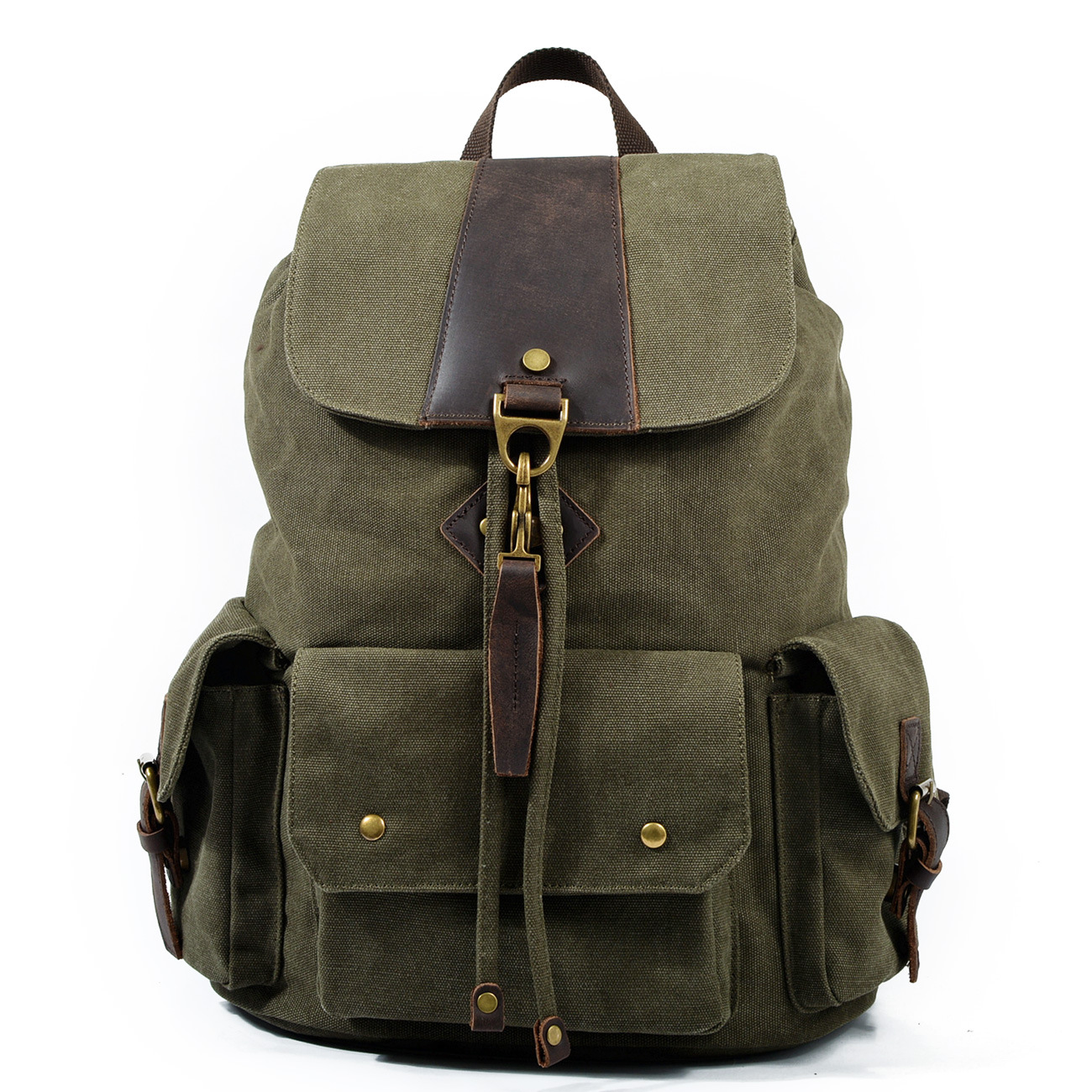 High Quality Man Canvas Backpack Men Laptop Backpacks Casual Bookbag Unisex School Bags Vintage Brand Male Travel Rucksack