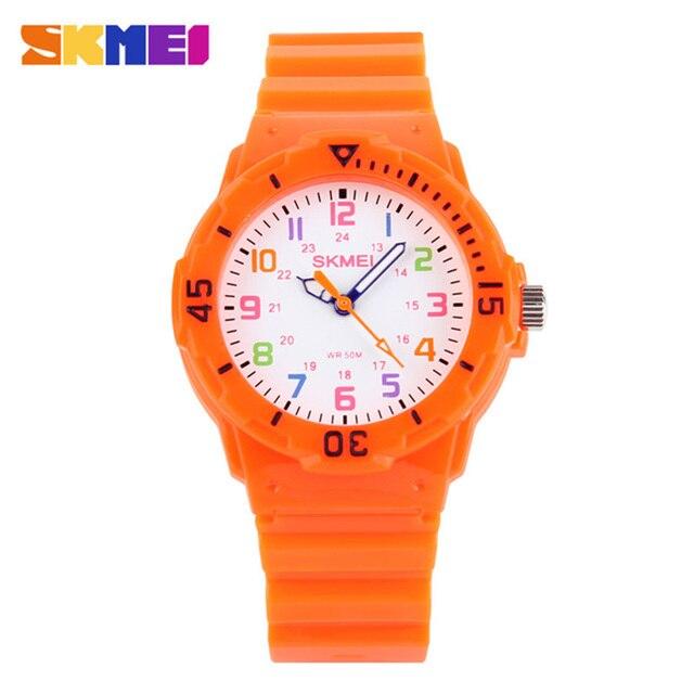 Top Luxury Children Watches 50M Waterproof Quartz Wristwatches Jelly Kids Clock