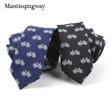 Mantieqingway Mens Tie Polyester Jacquard Necktie Gravata Corbatas Ties for Men Formal Business Bicycle Neck Tie Wedding Party