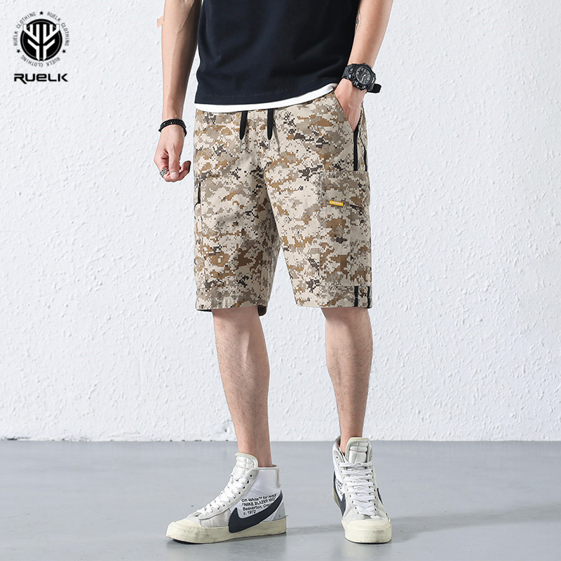 RUELK 2018 Cargo Shorts Mens Summer Cotton Shorts Men Casual Knee Length Plus Size Comfortable Fashion Brand Short