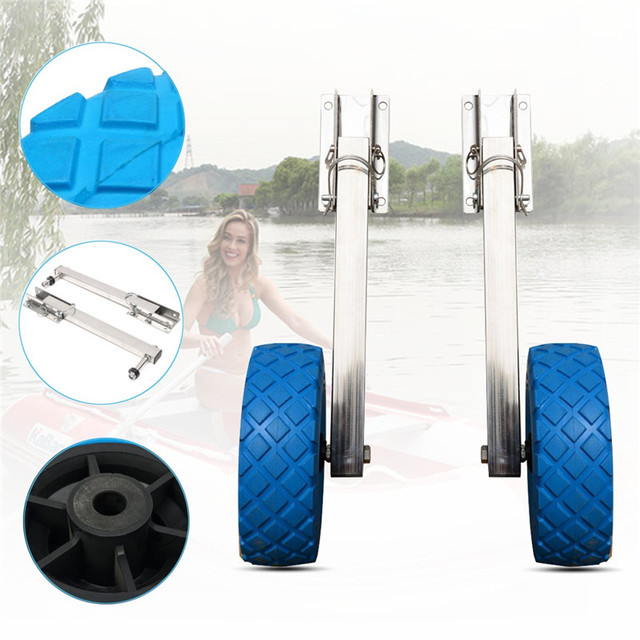 Kayak Dinghy Yacht Raft Trolley Kayak Accessories Stainless Steel Boat Transom Launching Wheel For Inflatable Boat