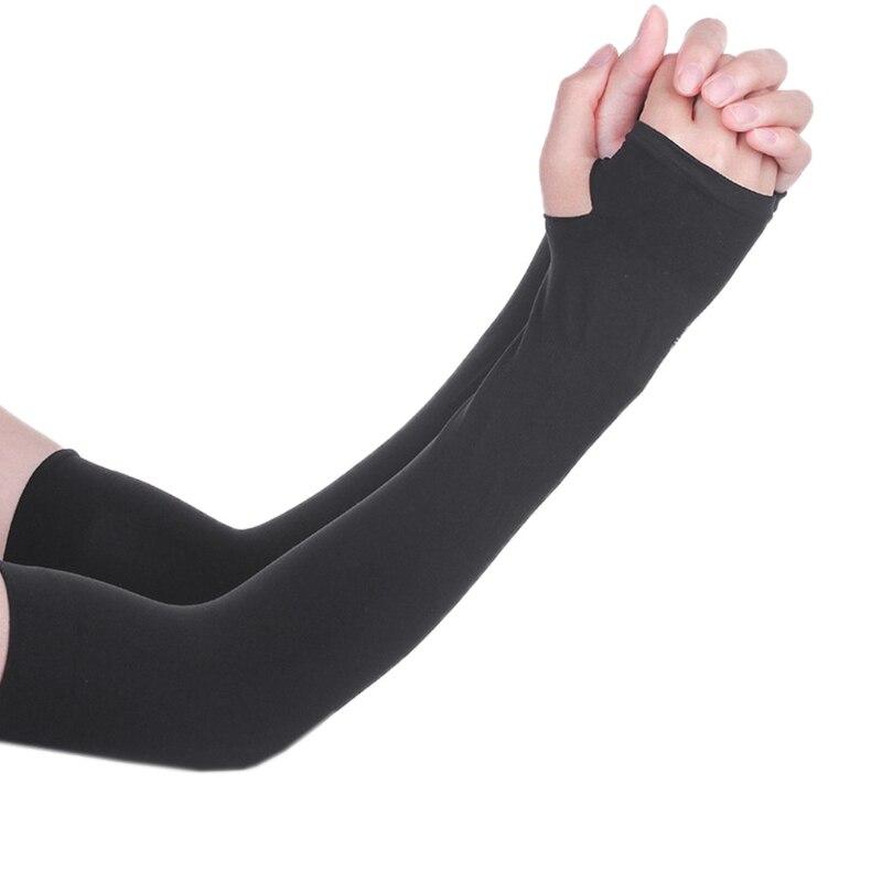 1 Paar Kühlung Athletischer Sport Skins Armstulpen Handschuhe Sonnenschutz Uv Abdeckung Radfahren Modische Muster