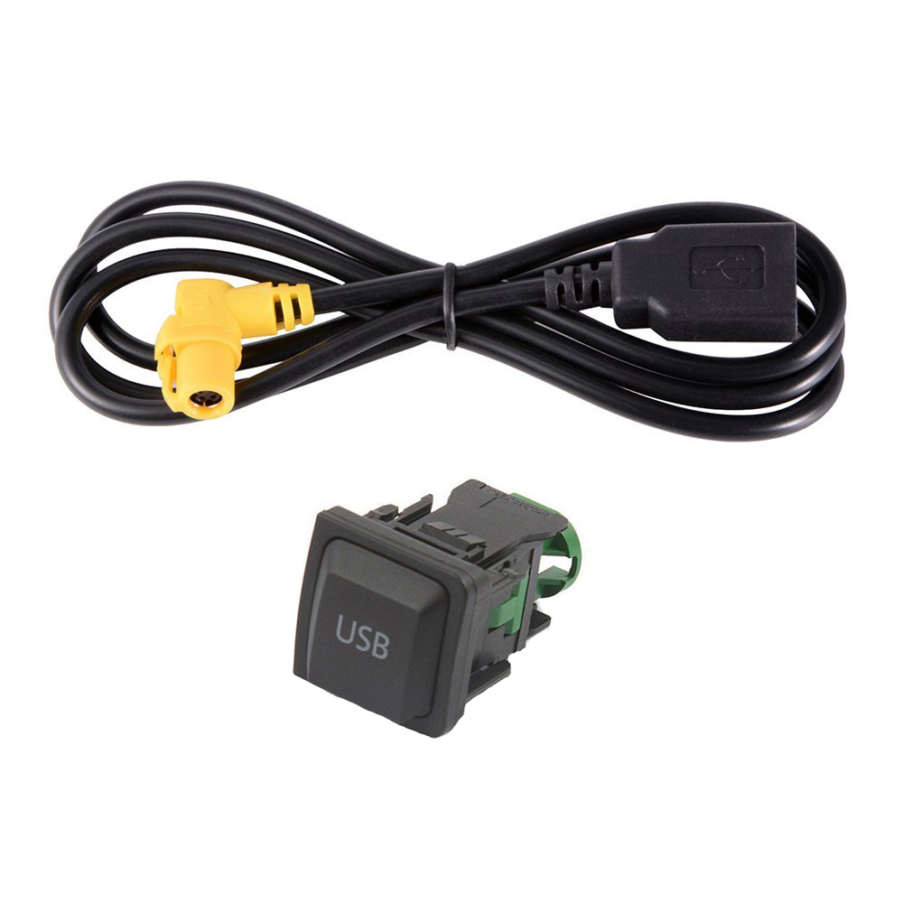 Auto Car AUX USB Switch Cable For GTI//GTR MK5 MK6 Jetta RCD510 RCD310 Practical