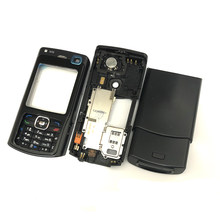 For Nokia N70 Housing Front Faceplate Frame Cover Case+Back cover/battery door cover+Keypad(China)