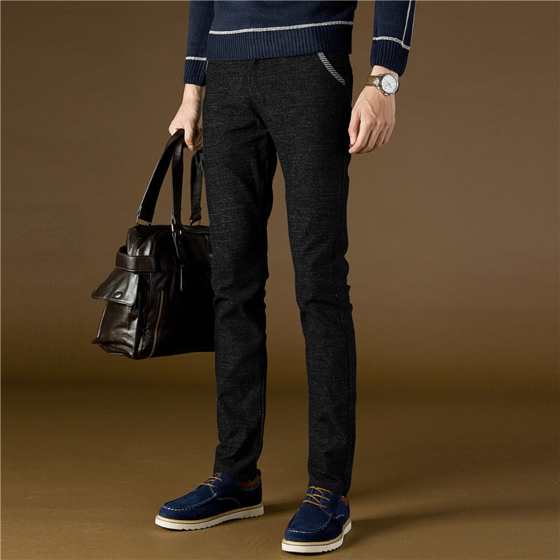 2018 casual pants men winter new men s sanded men office trouser dress pants