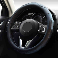 Micro Fiber Leather Steering Wheel Covers General Steering Wheel Cover Four Seasons 37cm 38 cm Car Interior Accessories