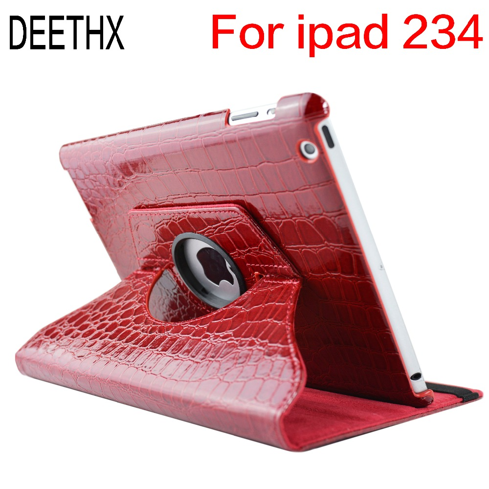 цены Tablet Case For Apple iPad 2 3 4 model,360 Rotation Crocodile Leather Protective Sleeve Rotary Cover shell for ipad case 2/3/4