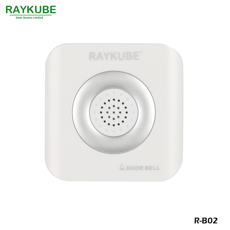 RAYKUBE Wired Doorbell DC 12V For Door Access Control System R-B02