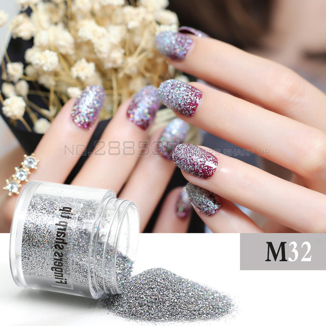 Aliexpress.com : Buy 1 Box 4.5g 2mm Holographic Colorful Laser Nail ...