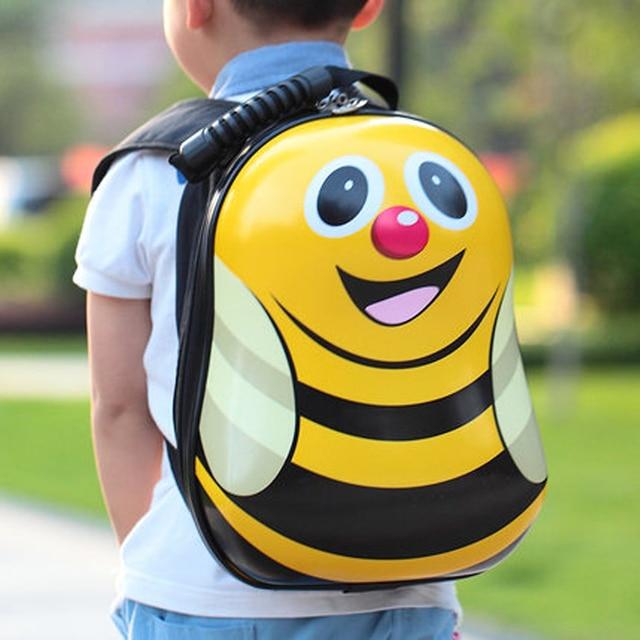13,15 inch Trolley Case and Backpack Cute ladybug Children luggage Cartoon school bag preschool Student children's suitcase