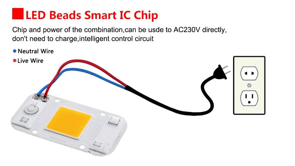 AC220V 20w 30w 50w cob led grow light chip (15)