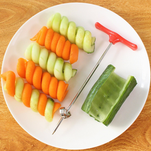 New Vegetables Spiral Knife Carving Tool Potato Carrot Cucumber Salad Chopper Manual Spiral Screw Slicer Cutter Spiralizer 2019 home used potato tower machine spiral carrot cucumber cutter