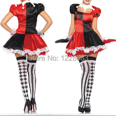 Buy Cheap Discount Free Shipping New 2020 Harley Quinn Fantasia Halloween Costumes For Women Free Shipping