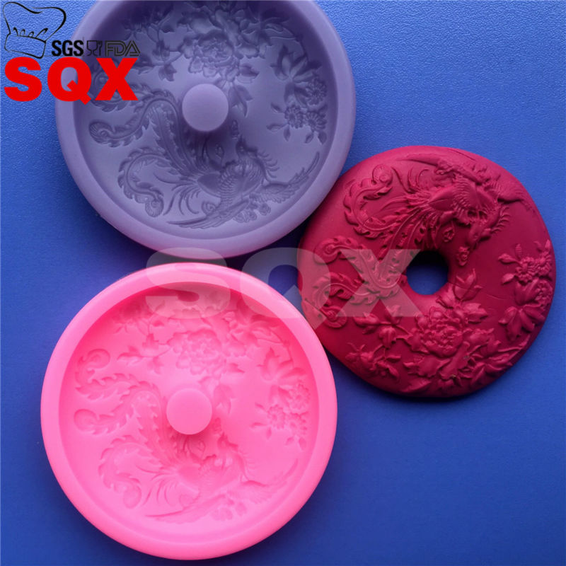 US $3 42 20% OFF|3D Phoenix donuts Silicone Mold Gumpaste Fondant Cake  Decorating Sugarcraft Baking Tools MR66-in Cake Molds from Home & Garden on