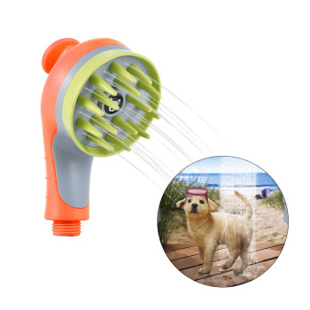 Pet Sprayer Shampoo Water Saver Bath Head Spray-head Puppy Dogs Cats Wash Grooming Bathing Massage Brush Handheld Shower
