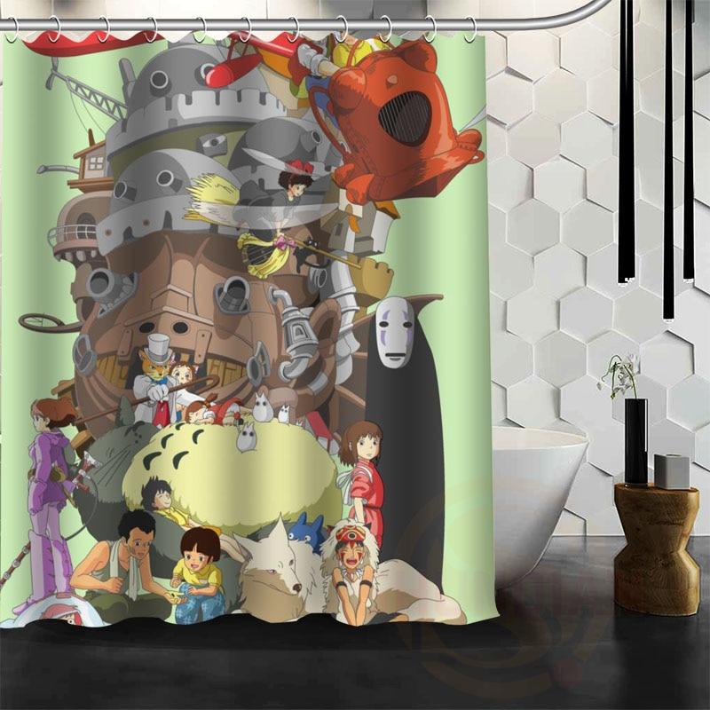 Cartoon Anime Japan Decorative Fabric Shower Curtain Set