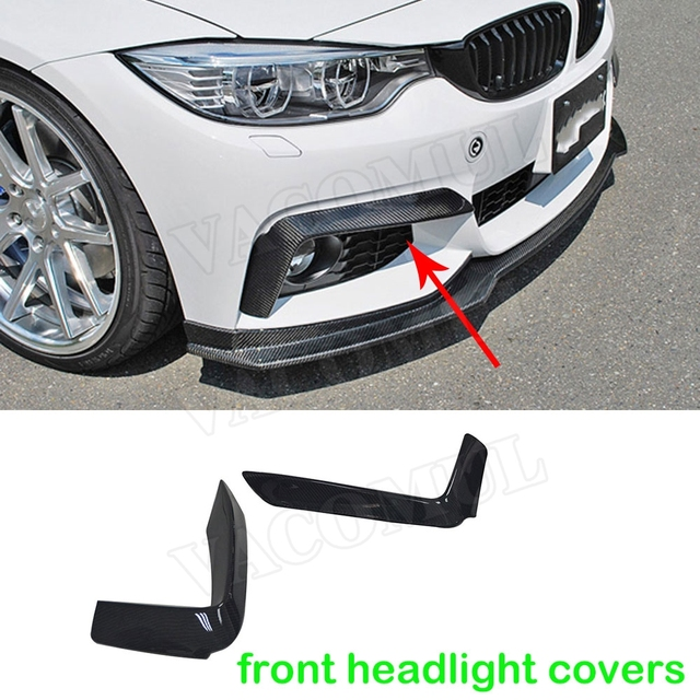 4 Series Carbon Fiber Car Styling Front Headlight Eyebrows Covers