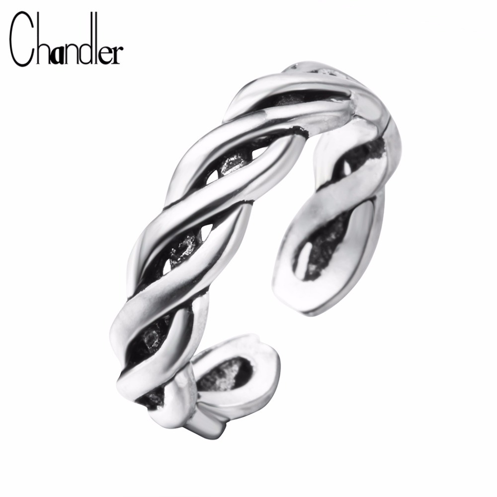 1PCS Platinum Plate Twisted Smooth Couple Band Love Ring