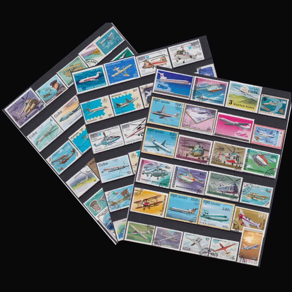 Plane , 250 Pieces / Lot No repeat  , Unsed Postage Stamps With Post Mark From World Wide  For Collecting-in Stamps from Home & Garden