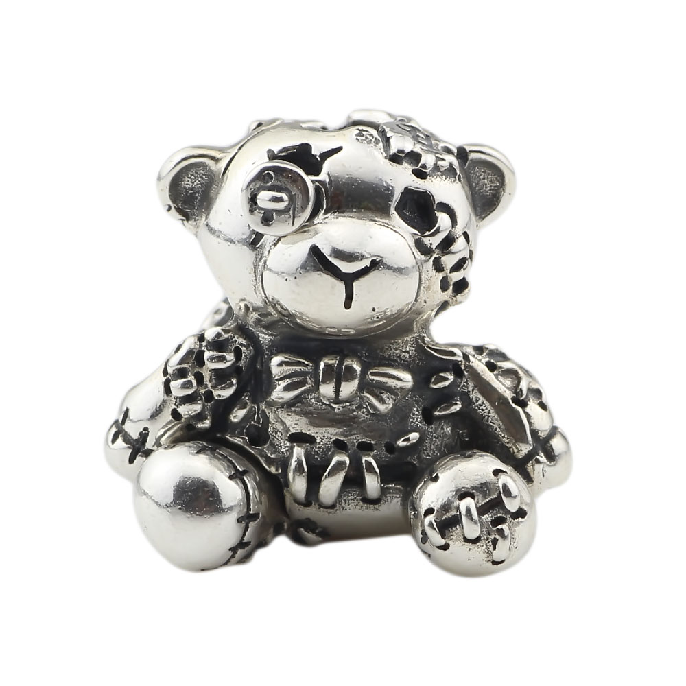 DIY Jewelry S925 Sterling Silver 1:1 Poor bear Hug Me 2.0 Pendant Beads Fit Bracelet&Necklace Beads For Jewelry making Gift