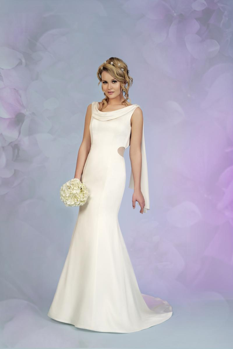 guide to 7 wedding dress styles cowl neck wedding dress A Guide to 7 Timeless Wedding Dress Styles