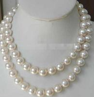 Super Long 12mm White Sea Shell Pearl Necklace Pearls Jewelry Manufacturing Natural Stone Chain Cord 48