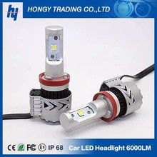8G 72W 36W Automobile LED Headlight 9005 HB3 9006 HB4 LED Bulb Kit 12000lm 6500K H11 H7 Car Lamps DRL Light Source