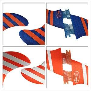 Image 4 - Surf FCS2 FINS G5 + GL ขนาดสีส้ม/Blue Honeycomb Surf FINS FCS II Tri Quad ชุดกระดานโต้คลื่น Fin FCS2 5 FINS ชุด
