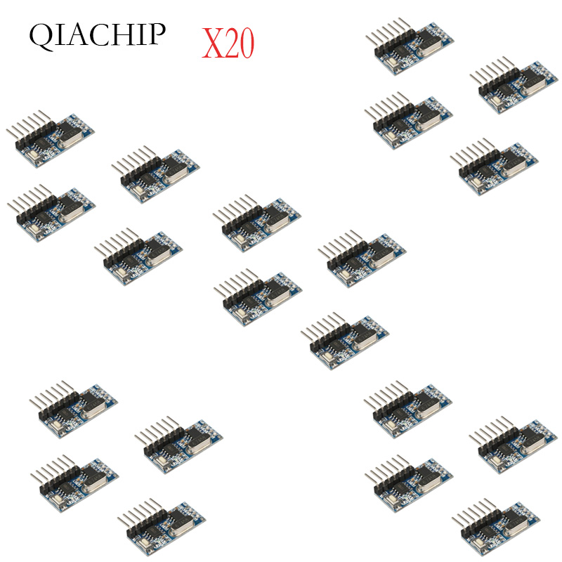 20 Pcs 433Mhz Wireless Remote Control Switch 4CH RF Relay EV1527 Encoding Learning Module For Light Relay Receiver-in Remote Controls from Consumer Electronics