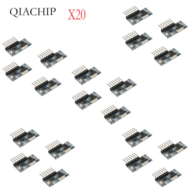 20 Pcs 433Mhz Wireless Remote Control Switch 4CH RF Relay EV1527 Encoding Learning Module For Light Relay Receiver