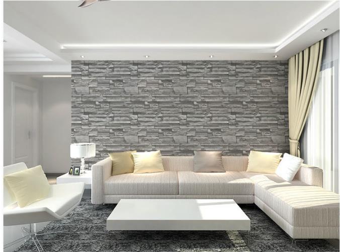 2014 gros gris brique rouge brique motif pvc papier peint papier peint moderne minimaliste salon livraison shipping9214