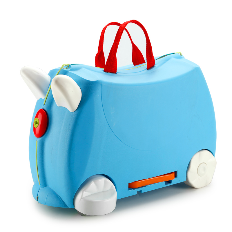 Fashion creative locker boy girl baby cars Toy box luggage suitcase Pull rod box Can sit to ride Check box children holiday gift frond children excavating machinery can sit tuba motor driven excavator boy toys turner bulldozer 2 6 yearwithout oringal box