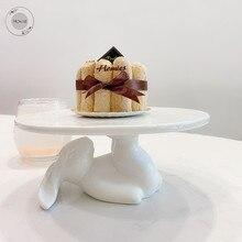 Керамическая тарелка фарфоровые тарелки декоративные обеденные тарелки кролик десерт торт тарелка наборы фарфоровая посуда кролик набор посуды