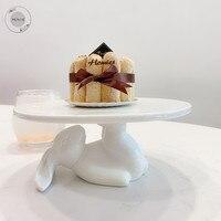 Керамическая тарелка фарфоровые тарелки декоративные обеденные тарелки кролик десерт торт тарелка наборы фарфоровая посуда кролик набор ...