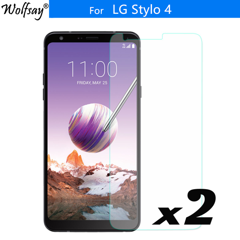 2PCS For Screen Protector LG Stylo 4 Tempered Glass 9H Toughened Protective Glass For LG Stylo 4 / Q Stylus /Q Stylus Plus Glass