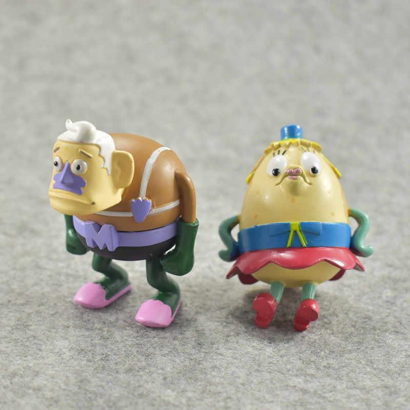 8 estilos SpongeBob Patrick Estrela do Clássico Anime PVC/Lula Molusco/Eugene/Sheldon/Gary Ação Figuras Kid presentes de Natal brinquedo